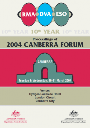 Proceedings of 2004 Canberra Forum
